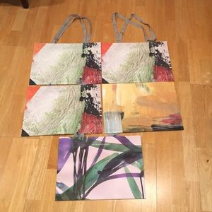 Anthropologie shopping bags (5 big ones)